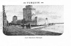 White Tower in Selanik (Thessaloniki, Greece), 1904 Selanik'te Beyaz Kule, by Imperial Archives Thessaloniki, Ottoman Empire, Historical Pictures, Bosnia, Syria, Art And Architecture, Istanbul, Egypt, Greece