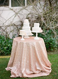 a trio of pretty cakes  Photography By / lavenderandtwine.com, Coordination   Styling By / acharmingoccasion.com, Cakes by http://mjbcakes.com/