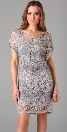 crochet dress - one day CROCHET AND TRICOT INSPIRATION: http://pinterest.com/gigibrazil/crochet-and-knitting-lovers/