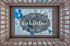 Architecture Lr Presets by FaeryDesign on Professional Lightroom Presets, Creative Sketches, Paint Markers, Pencil Illustration, Business Card Logo, Watercolor And Ink, Painting & Drawing, Free Design, Architecture