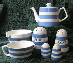 Some of my Cornishware Collection http://www.scrapsofmind.com/2007/02/18/tg-green-cornishware/#