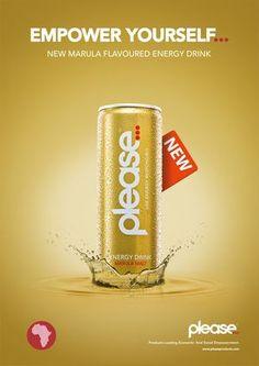 Energy Drink Advert designed by Burg Design