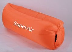 Inflatable Lounger With Travel Bag Perfect for Indoor or Outdoor Hangout Orange *** Check out this great product. (This is an affiliate link) #TravelSleppingBagsandCampBedding