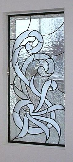 Uncolored Stained Glass Panel