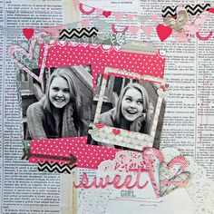My Happy Place: Creative Scrappers # 246- using Pink Paislee Secret Crush #2peascolorfulworld