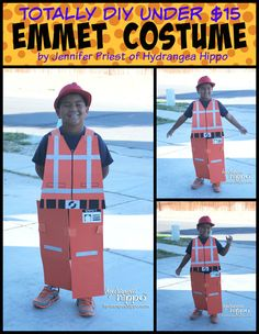DIY Emmet Costume by Jennifer Priest LEGO Movie Collage title
