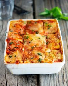 This is as close to a guiltless lasagna as it gets. Swap cauliflower for the noodles, then layer in the usual ricotta, mozzarella, tomato sauce and beef.  Get the recipe from The Iron You »