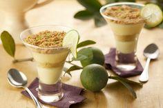 3 deliciosas receitas com iogurte para curtir o verão sem sair da dieta! Pavê de limão no copinho!