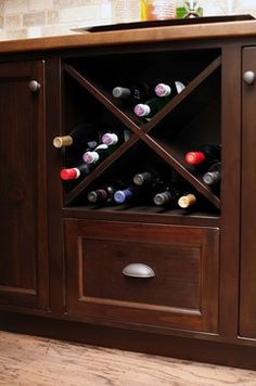 Kitchens - traditional - wine cellar  McBurney Junction