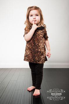 Kids Cheetah Peter Pan Collar Shirt, $20.00