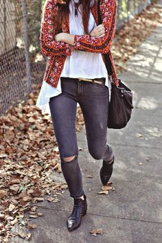 Dylana Suarez in PAIGE Denim Verdugo in Kate Destructed