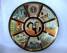 LBJ and Lady Bird Johnson commemorative collectible plate