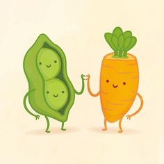 I got Peas and Carrot! Which Adorable Food Pair Are You And Your Best Friend?
