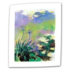 Agapanthus by Claude Monet Painting Print on Canvas
