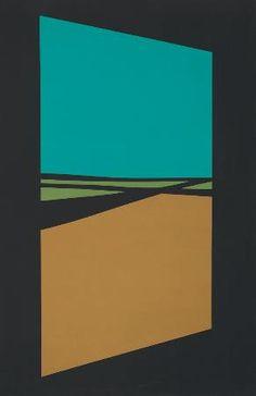 """Helen Lundeberg, Open Door (1964) 60"""" x 40"""" oil on canvas"""