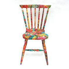 Delightful Decoupaged Chair  http://www.notonthehighstreet.com/1/1/195140-delightful-decoupaged-chair-by-viva-designs.html#