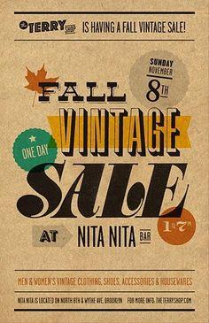 Vintage type poster by vickie
