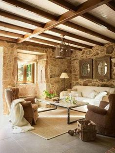 40 Awesome Rustic Living Room Decorating Ideas - Interior Design Ideas, Home Designs, Bedroom, Living Room Designs