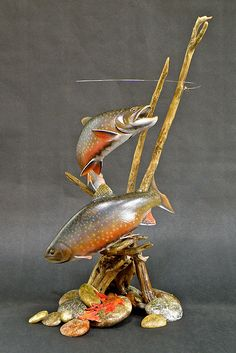 Lona Hymas Smith Truly An Inspiration Lona Hymas Smith Truly An Inspiration Fish Sculpture, Wood Sculpture, Sculptures, Fish Wood Carving, Wood Carvings, Fish Mounts, Trout Fishing, Fly Fishing, Intarsia Wood