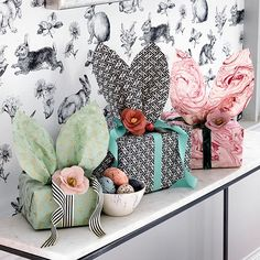 DIY your Christmas gifts this year with GLAMULET. they are 100% compatible with Pandora bracelets. Easter gifts wrapped in pretty paper with playful bunny ears make an enchanting display, while rabbit-patterned wallpaper is a whimsical touch all year round. Homes & Gardens. http://www.hglivingbeautifully.com/2016/03/18/seasonal-style-easy-ways-to-decorate-your-home-for-easter-celebrations/