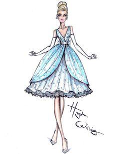 Lily James [as Ella] (Fashion by HaydenWilliamsIllustrations @Facebook) #Cinderella
