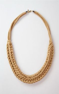 Amena Four Necklace from WWAKE, hand tied and knotted.