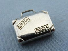 Vintage Travel Suitcase Sterling Silver 925 Charm
