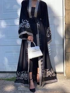 Arab Fashion, Muslim Fashion, Modest Fashion, Eid Outfits, Fashion Outfits, Mode Abaya, Abaya Designs, Hijab Fashion Inspiration, Hijab Outfit