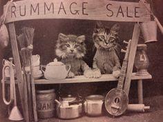 **FREE ViNTaGE DiGiTaL STaMPS**: Free Vintage Digital Stamp - Cat Illustration