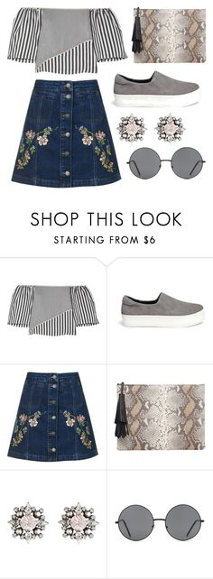 """Prints + Patterns"" by cherieaustin ❤ liked on Polyvore featuring La Ligne, Opening Ceremony, Topshop, MANGO, DANNIJO and Forever 21"
