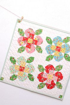 Flower Garden Mini Quilt