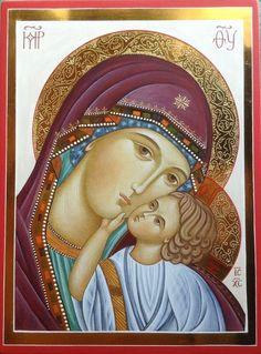 Theotokos by Paola Morandi Religious Images, Religious Icons, Religious Art, Christian Drawings, Christian Art, Madonna Art, Madonna And Child, Byzantine Art, Byzantine Icons