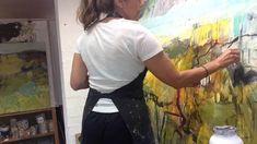 Dana Dion Artist - Painting In Progress. Timelapse painting - Sydney Aus...