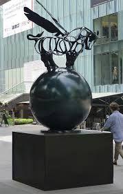 richard texier orchard road singapour sculpture art contemporain bronze