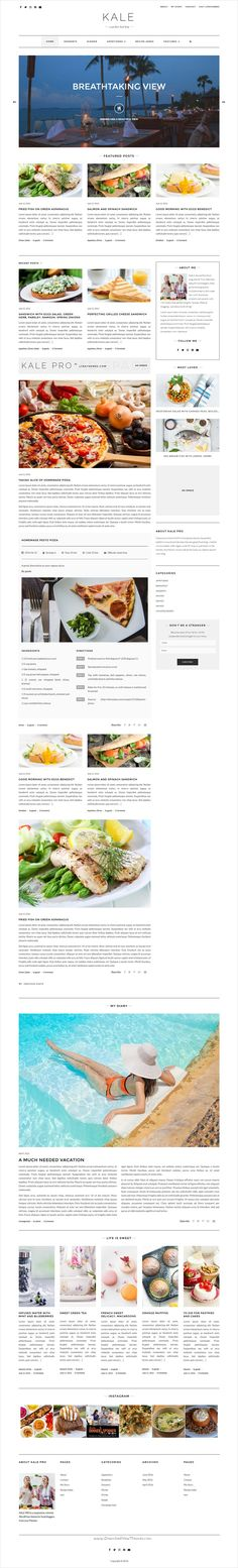 Kale Pro is the ultimate responsive #WordPress #Blogging #theme for stunning food, personal, or lifestyle blogs download now➩ https://themeforest.net/item/kale-the-perfect-food-and-personal-blog-theme/17123700?ref=Datasata
