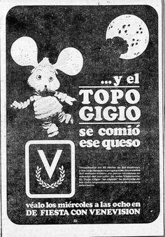 Publicidad retro del Topo Gigio en Venevision