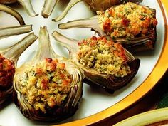 Learning Italian, Antipasto, Artichoke, Fett, Italian Recipes, Mashed Potatoes, Cauliflower, Zucchini, Muffin
