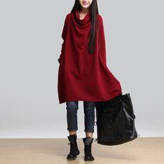Платье без тары свободного покроя длинный рукав, осень и зима платья корейский женщины длиной до колен бренда Vestidos купить на AliExpress