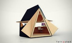 "The Tetra-Shed is a new modular building system that would arguably make for a pretty awesome home office.  Designed by David Ajasa-Adekunle to be a ""modern garden office"", the Tetra-Shed is a system of modular clusters that can be connected together to form a work space suitable for a wide range of possible uses, including outdoor."