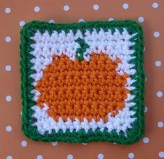 Pumpkin Coaster - Free Pattern