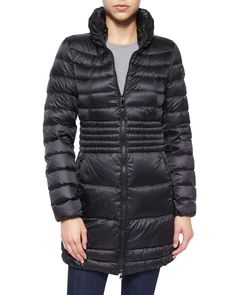 Quilted Slim Long Jacket