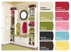 Girls room colours on right