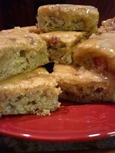 As Seen by Me: By Request Rhubarb Bars