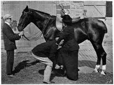 A Leg Up, Part II: Riding Habits, Mounting, and Dismounting by Guest Blogger Shannon Donnelly -- great description of how a Regency lady mounted her horse.