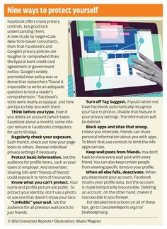 Nine ways to protect yourself on Facebook