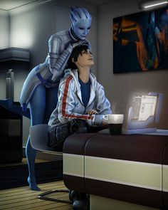 Mass Effect Fan Art // What are you up to? Mass Effect Games, Mass Effect 1, Mass Effect Universe, Commander Shepard, Sci Fi Characters, Science Fiction Art, Marvel, Deviantart, Anime