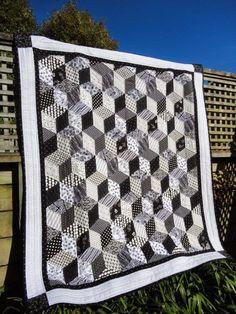 Bloggers' Quilt Festival - My Tumbling Blocks quilt