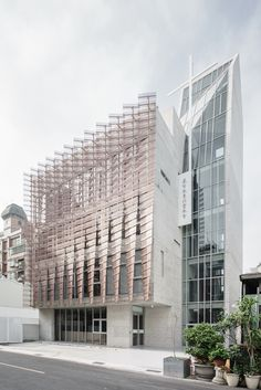 Image 8 of 28 from gallery of Tainan Tung-Men Holiness Church / MAYU architects+. Photograph by Shawn Liu Studio Brick Architecture, Religious Architecture, Architecture Details, Library Architecture, Contemporary Architecture, Green Facade, Metal Facade, Metal Cladding, Sustainable Building Design