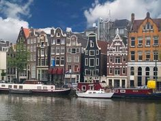 Amsterdam - traditional Gabled houses (kind of remind me of the Victorian houses on postcard row in San Francisco)