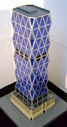 - Architectural Design Method Physical model of The Hearst Tower, New York, Norman Foster. Tower Models, Foster Partners, Minecraft Projects, High Rise Building, Norman Foster, Facade Architecture, The Fosters, Ny 1, Indoor